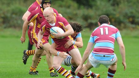 Winger Pete Wood scored Hampstead's first try. Pic: Paolo Minoli