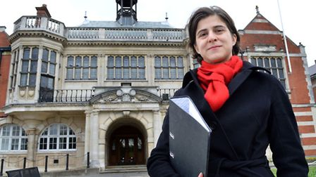 Labour's Sarah Sackman, Finchley and Golders Green parliamentary candidate, outside Hendon Town Hall