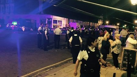 The usually quiet residential street in Primrose Hill descended into chaos on Sunday night