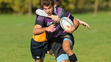 Mark Liebling touched down for league leaders Belsize Park. Pic: Paolo Minoli
