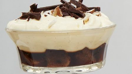 coffee and sour cherry trifles