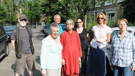 Residents of Quadrant Grove won what could be a landmark decision. Residents from left are Andrew Ba