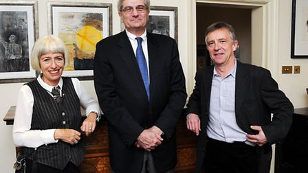Gabrielle Rifkind and Giandomenico Picco (middle) were in conversation with John McCarthy at the Fre