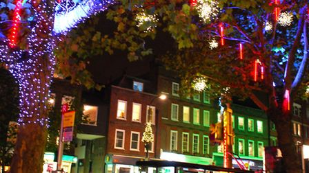 The lights along Hampstead High Street last year. Picture: Polly Hancock