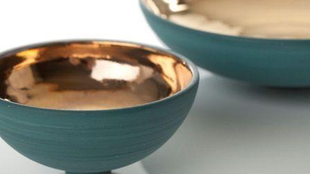 Lustred bowls by Kerry Hastings