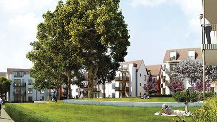Artist's impression of how the St Luke's development will look when completed