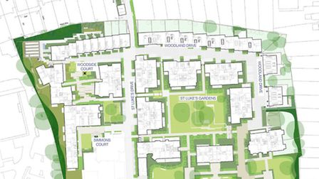 Site plan for St Luke's Muswell Hill