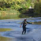 Surfing on Hampstead No. 2 pond. Picture: Ron Vester