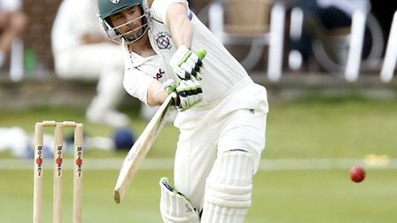 Ben Scott bats for Hampstead in the Middlesex County Cricket League. Pic: Max Flego
