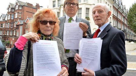Left to right: Campaigners Annette Hammond, James Butterwick and Dr Harald Lipman. Picture: Polly Ha