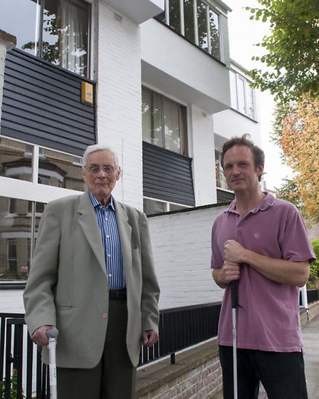 Gayton Road residents Ernest Wistrich and Red Szell would have to pay the mansion tax. Picture: Nige