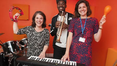 Former pupil Mark Crown, a member of the band Rudimental, opens his old primary school's new music s
