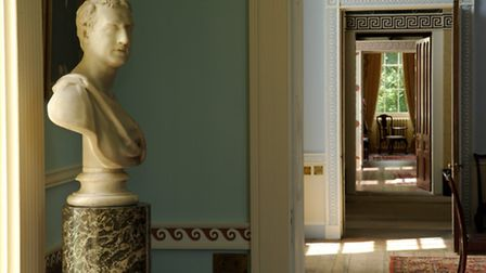 The view through the interior of Cairness House