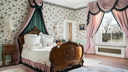 One of the eight bedrooms at Goldingtons, Herts