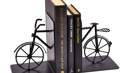 Bicycle book ends, �38 99, Joannawood.co.uk. PA Photo/Handout.