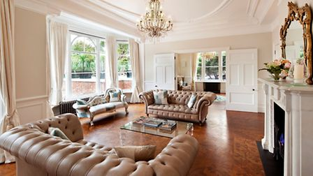 This five bedroom house on Daleham Gardens, Hampstead NW3, is available through Savills for £13.5 mi