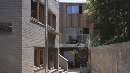 Copper Lane, Stoke Newington, a co-housing development designed by HHbR