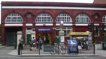 The attack took place in Belsize ParkTube station just before midnight on Saturday