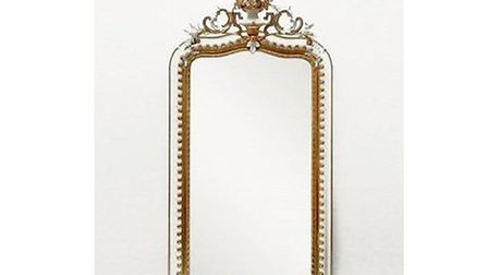 A nineteenth century French mirror with the original glass available from Floral Hall Antiques for £