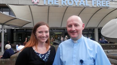 Senior nurse Kerry Wykes and Reverend David Rushton, of the Royal Free Hospital, were recognised as