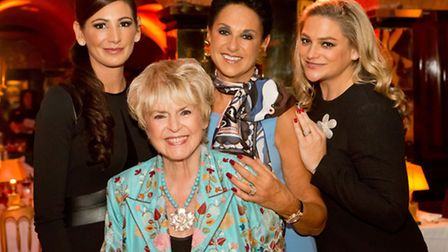 Gloria Hunniford (front) with Dame Gail Ronson and her daughters Hayley (left) and Nicole. Picture:
