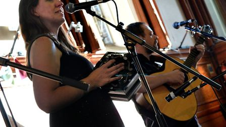 Folk act Forbes Moncrieff perform at Cecil Sharp House as part of the London Folk Fayre. Picture: Po