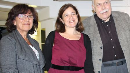 LJCC curator Julia Weiner (centre) with Cheryl Goldhill and Theodore Matoff. Picture: Janette Hechel