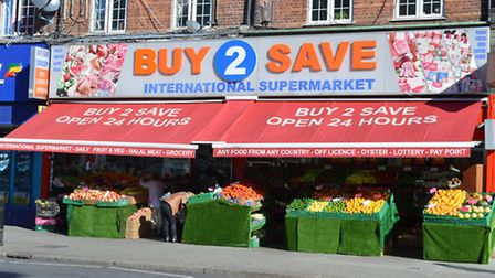 Buy 2 Save International Supermarket. Picture: Polly Hancock.