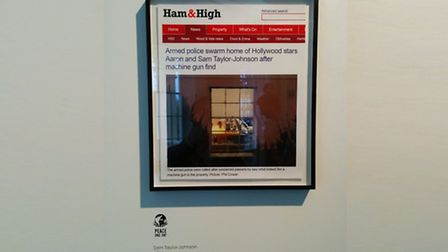 The Ham&High article submitted as a piece of art by Sam Taylor-Johnson is said to be worth up to £7,