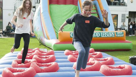 'It's a Knockout' comes to South Hampstead High School to celebrate the last day at its temporary ca