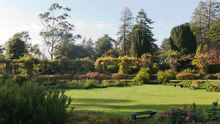 Mount Stewart House and Garden, County Down, the Sunk Garden in autumn. PA Photo/National Trust.