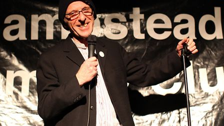 Ivor Dembina, compere of Hampstead Comedy Club