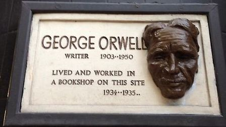 The new face of George Orwell. Picture: Josh Stephens