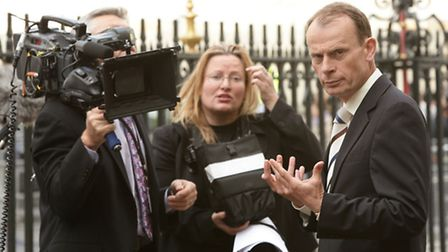 BBC presenter Andrew Marr at the Royal Maundy Service at Westminster Abbey, London.