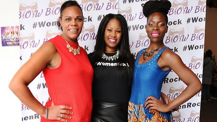 Pictured from left is Cllr Marie Hanson, organiser Lavina Alison Morgan and Heaven Afrika