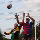 Old Street win a line-out against Stevenage during their 52-10 defeata fortnight ago (Picture: Richa