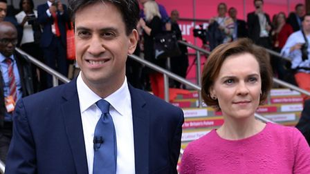 Ed Miliband and his wife Justine Thornton. Picture: PA Wire/Stefan Rousseau.