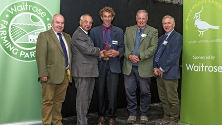 FWAG/Waitrose Silver Lapwing Awards 2017: from left, Duncan Sinclair, agriculture manager at Waitros