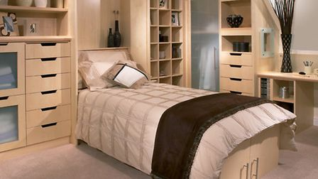 24 Hour Room concept with foldaway bed, by bespoke fitted furniture specialist, Neville Johnson, PA
