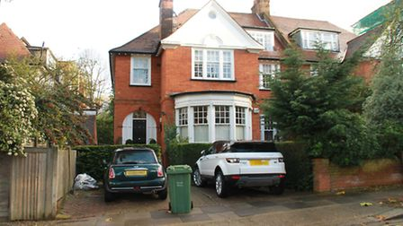 The former matrimonial home of Shelley and David Mann in Hampstead. Picture: Champion News Service