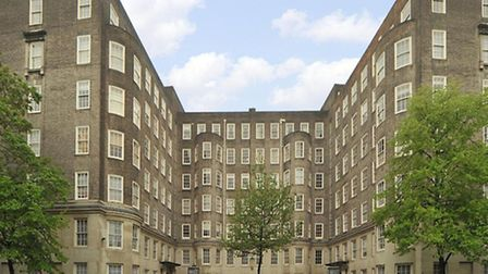 This four-bedroom flat in a portered mansion block on Circus Road, NW8, is on for £1,700 per week th