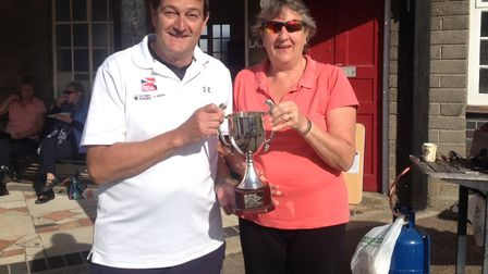 Lowestoft Town Tennis Club's annual end of season tournament saw the wining pair unveiled as Sally J