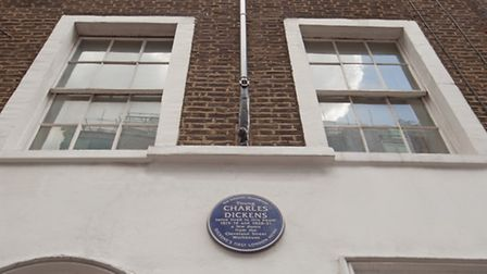 Cleveland Street, Fitzrovia W1T. The second floor flat in this building where Dickens spent parts of