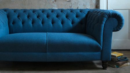 Grande Dame small sofa in Moon Earth Airforce fabric, £2,159 (usually from £2,699), Sofa Workshop. P