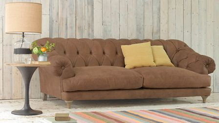Bagsie leather sofa, from £2,495, Loaf. PA Photo/Handout