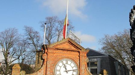 The MCC flag at Lord's flies at half mast in tribute to the former Middlesex cricketer