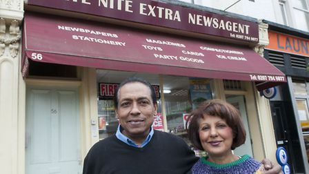 Shiraz (left) and Tazim Alidina are retiring from Late Nite Extra in Belsize Village. Picture: Nigel