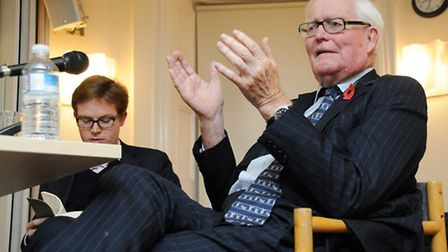 Douglas Hurd (right) and Edward Young. Picture: Dieter Perry.
