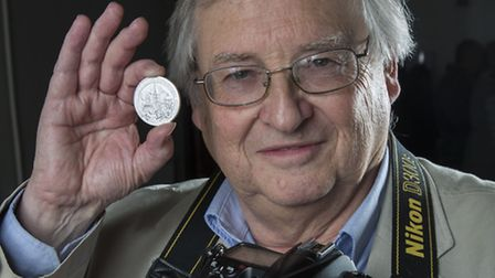 Ham&High photographer Nigel Sutton with his medal.