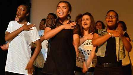 Young performers from WAC Arts sing, dance and act their way through a special show for friends and